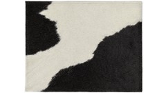 PLACE MATS BLACK/WHITE, 45x35 cm, made from cow hide (2)