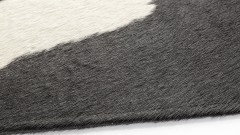 PLACE MATS BLACK/WHITE, 45x35 cm, made from cow hide (3)