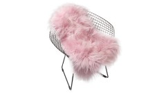 Icelandic lambskin, 90+, long hair, pale pink (2)