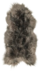 Icelandic lambskin, 90+, long hair,  taupe dark tops (1)